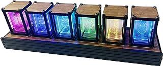 LONYIABBI ニキシ管風 置き時計 クロック 時計 レトロモダン 置き時計 デジタル時計 シミュレーション グローチューブクロック RGBフルカラー LED 贈り物