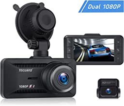 $89 » TOGUARD Both 1080P Dash Cam Front and Rear Dual Lens in Car Camera 3 Inch IPS Screen 170° Wide Angle Dash Camera for Cars Driving Recorder, Support External GPS Logger