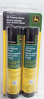 John Deere SD Polyurea All-Purpose Grease (2 Tubes) Fits Mini Grease Gun