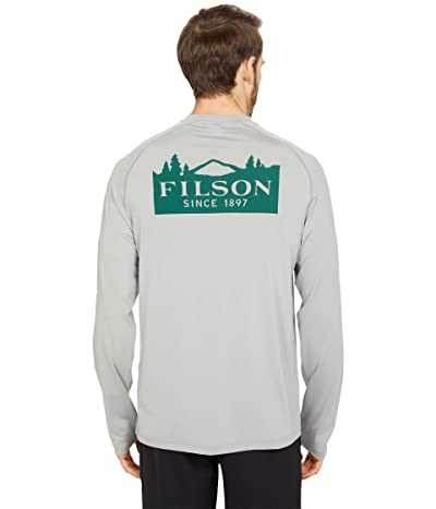 Filson Long Sleeve Barrier T-Shirt (SMU) (Flint Gray (Mt Rainier)) Men