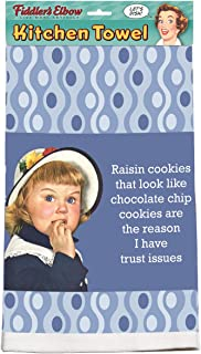 Fiddler's Elbow Raisin Cookies That Look Like Chocolate Chip Cookies are The Reason I Have Trust Issues 100% Cotton, Eco-Friendly Dish Towel
