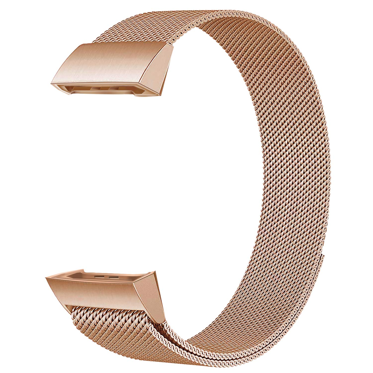 Adjustable Stainless Steel Metal Bracelet Strap for Fitbit Charge 2 HR Fitness Tracker Men Women Wristbands Mugust Replacement Bands Compatible with Fitbit Charge 2 Bands