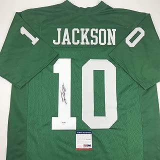 Autographed/Signed DeSean Jackson Philadelphia Kelly Green Football Jersey PSA/DNA COA