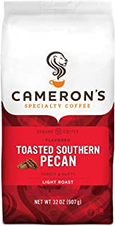 Cameron's Coffee Roasted Ground Coffee Bag, Flavored, Toasted Southern Pecan, 32 Ounce