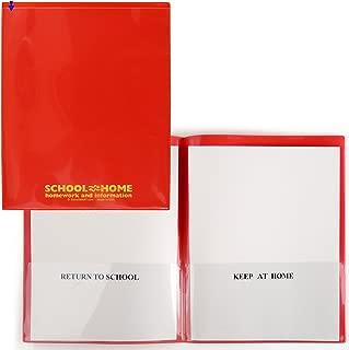 StoreSMART - School/Home Folders - Red - 10-Pack - Archival Durable Plastic - Homework and Information - SH900SV-R10