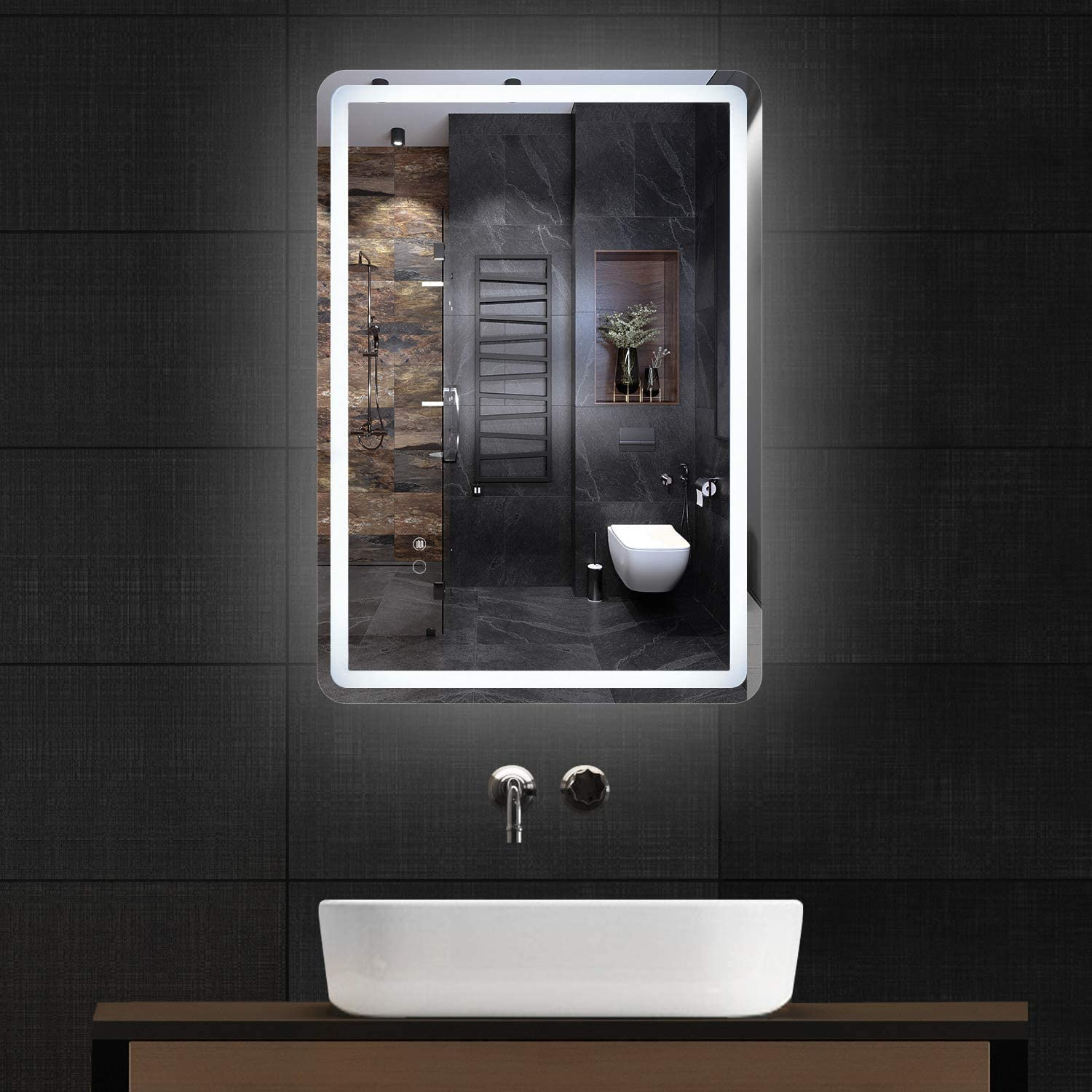 Simple Deluxe 36 x ※ラッピング ※ 28 Inch LED Wall Anti-Fog Bath Large Dimmable 本物