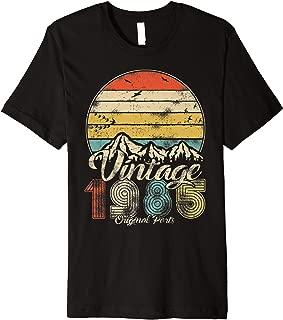 Vintage 34th birthday gift shirt for men women Classic 1985