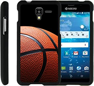 Compatible with Kyocera Hydro View Case | Hydro Reach Case | Hydro Shore Case [Slim Duo] Fitted 2 Piece Hard Snap On Case on Black Sports and Games by TurtleArmor - Basketball Seams