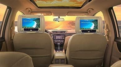 "Rockville New 9"" Beige Car DVD/USB/HDMI Headrest Monitors+Video Games (RDP931-BG)"
