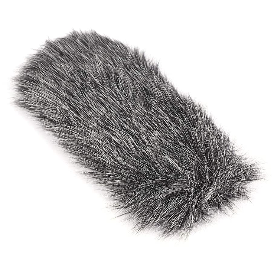 Serounder Portable Soft Synthetic Fur Microphone Windscreen,Outdoor Dusty MIC Windscreen Recording MIC Muff for Rode GO