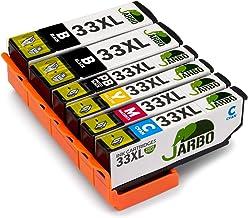 JARBO 33XL Compatibles Epson 33 XL Cartouche d'encre Compatible avec Epson Expression Premium XP-530 XP-540 XP-630 XP-635 XP-640 XP-645 XP-830 XP-900 (2 Noir,1 Photo Noir,1 Cyan,1 Magenta,1 Jaune)