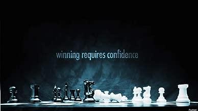 •TARQUISH Motivational Poster Chess BACKGROUNDMETALIC Multicolour 12X18 INCHES