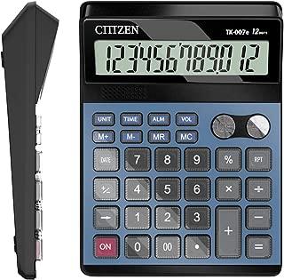 Calculator,12 Digit Human Voice Standard Function Desk Calculators (Blue)