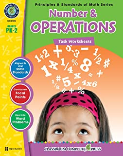 Number & Operations - Task Sheets Gr. PK-2 (Principles & Standards of Math) - Classroom Complete Press