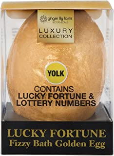 Ginger Lily Farms Botanicals Luxury Collection Lucky Fortune Fizzy Bath Golden Eggs, Contain Lucky Fortune & Lottery Numbers, 6.3 oz