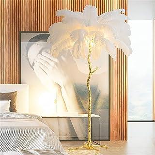 XIAOZHENT Lampadaire LED américaine Salon Intérieur New Mode Autruche Deco Cuivre Résine Tripot Luminaire Permanent Lampes...