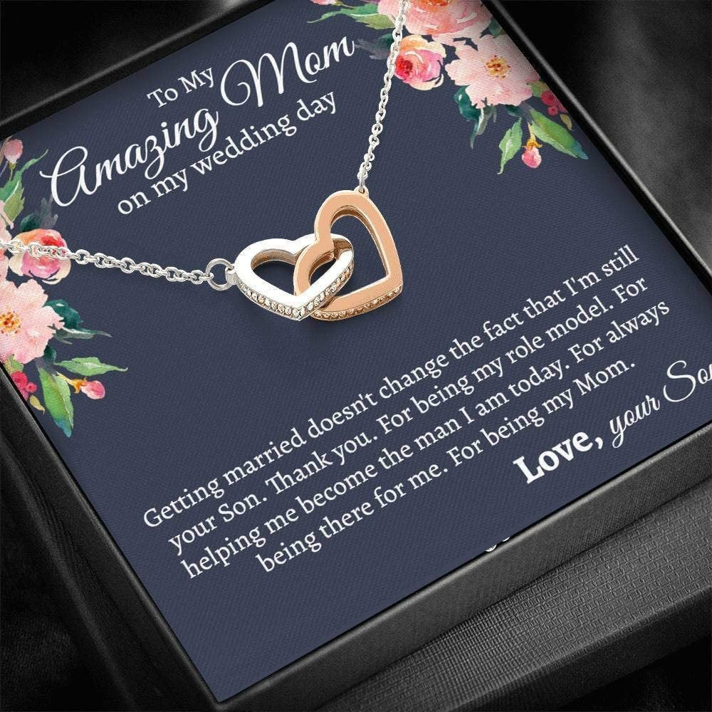 Personalized Jewelry Gift - Forever Love Necklace, To My Mom On My Wedding Day, Son to Mom on Wedding Day, Wedding Gift to My Mom from Son, Mother of the Groom Necklace, Love your Son