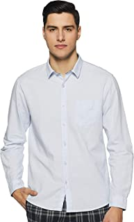 People Men's Slim fit Casual Shirt