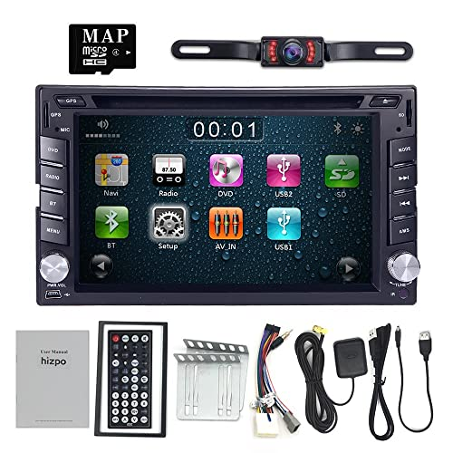 for Nissan Double Din in Dash Car DVD Player GPS Bluetooth iPod USB SD Touch Screen