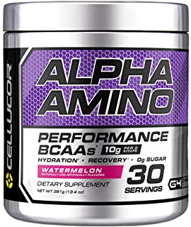 Cellucor Alpha Amino BCAA Supplement with BetaPower, 30 Servings, Watermelon, 381 Grams
