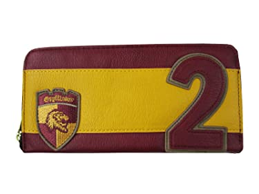 Loungefly x Harry Potter R. Weasley Gryffindor Zip-Around Wallet (Red/Yellow/Brown, One Size)