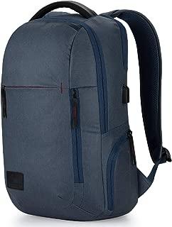 High Sierra Business Proslim USB Pack - Slim Business Backpack for Men or Women - Ideal for Travel - Rustic Blue Heather/Chili Pepper