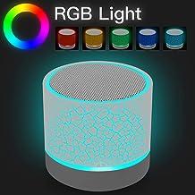 Mini altavoz Bluetooth inalámbrico portátil, altavoz estéreo recargable con luces LED de AICase