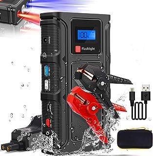 Teaisiy Arrancador de Coches 18000mAh 1000A, Arrancadores de batería de Coche Booster(para 12V de 6.5L de Gasolina o 5.0L de Diesel)Banco de Baterías con USB QC3.0 & Tipo C Carga Rápida y Linterna LED
