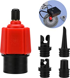 Oumers Inflatable SUP Pump Adaptor Air Pump Converter, 4 Standards Conventional Air Valve Attachment for Inflatable Boat, Stand Up Paddle Board, Inflatable Bed, Etc