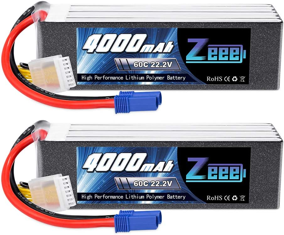 Zeee 22.2V 60C Ranking TOP9 4000mAh 6S Lipo EC5 for Battery Max 76% OFF with RC Connector