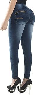 Fiorella Shapewear Butt Lifter Women Jeans High Rise Waist Push Up Levanta Cola Pantalones Colombianos 504DB