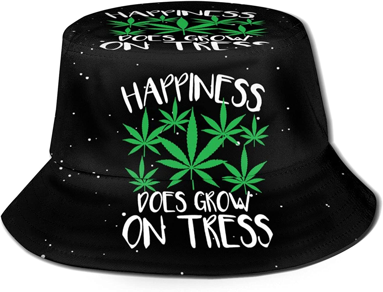 Marijuana Stoner Cannabis Weed 420 Funny Unisex Bucket Hat, Fisherman Hats Summer Outdoor Packable Cap Travel Beach Sun Hat