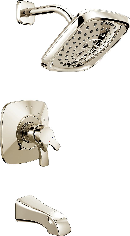 『1年保証』 Delta Faucet T17T452-PN Tesla 直営限定アウトレット TempAssure Tub 17T Series Shower