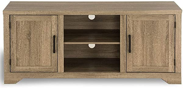 King 77777 Rustic TV Stand Entertainment Center Farmhouse Console Storage Wood Cabinet New Simple Style Modern Design Multifunctional Comfortable