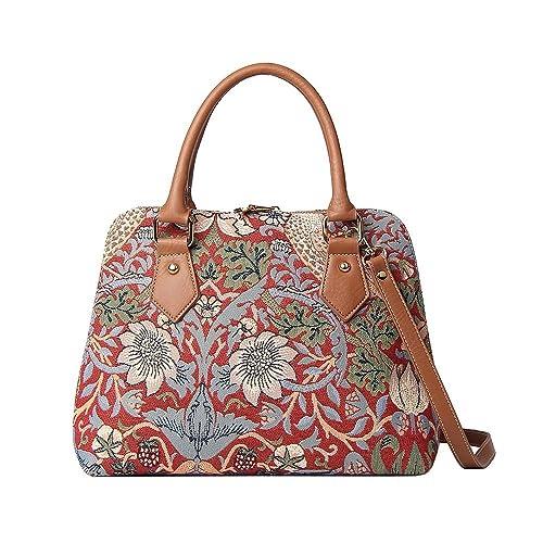 William Morris Strawberry Thief Tapestry Top Handle Handbag Shoulder Bag by  Signare 52e7074d7d2bb