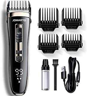 Hair Clippers Home Barber Gift Kit, JOMARTO Cordless Electric Clipper, Hair Trimmer with Cutting Combs, Adjustable Frequen...