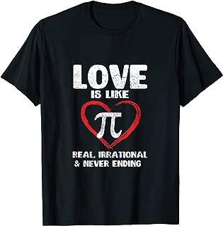Love Is Like Pi Tshirt Nerd Geek Gift 3.14