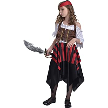 EraSpooky Pirata Niña Disfraz Falda Carnaval: Amazon.es: Ropa y ...