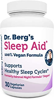 Dr. Berg Sleep Aid Vegan Formula – All Natural Support for Normal Sleeping Cycles to Fight Fatigue & Aids Stress – Best No...