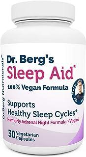 دکتر برگ محصول - فرمول وگان Sid Aid Sleep - همه پشتیبانی طبیعی از چرخه خواب طبیعی برای مقابله با خستگی و استرس - تشکیل غیر عادت (1 بسته)