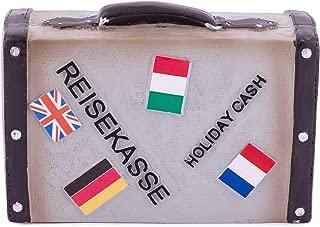 Spardose Auto Wohnwagen Sparschwein Holiday 29 cm Money Box Bank
