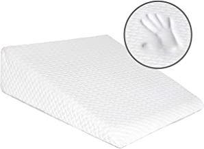 Milliard Bed Wedge Pillow with Memory Foam Top -Helps with Acid Reflux and Gerds, Reduce Neck and Back Pain, Snoring, and Respiratory Problems- Breathable and Washable Cover (7.5 Inch) (White)