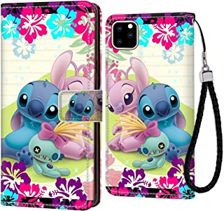 Wallet Case Fit for Apple iPhone 11 Pro Max (2019) Lilo Stitch Angel Scrump with Card Holder