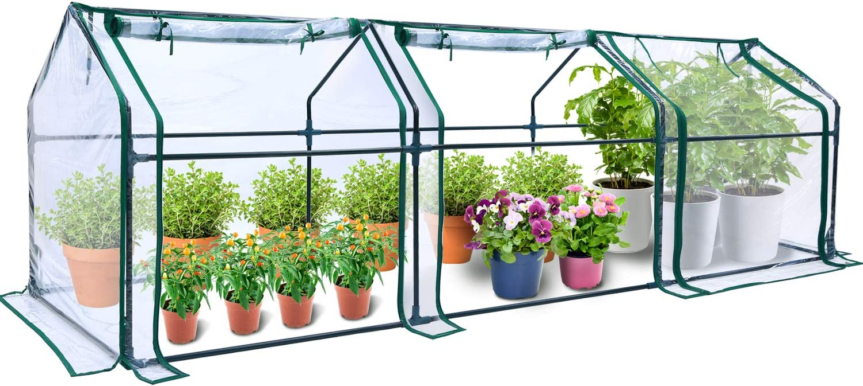 Portable House-Shaped Mini Greenhouse, Ohuhu 106