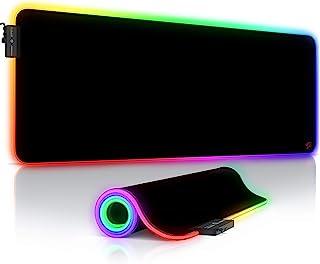 CSL-Computer Titanwolf - RGB gaming muismat - LED bureauonderlegger - 800x300 mm - XXL muismat - LED Multi Color - 11 verl...