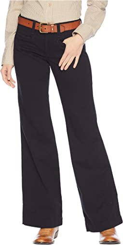Twill Ella Trousers in Black