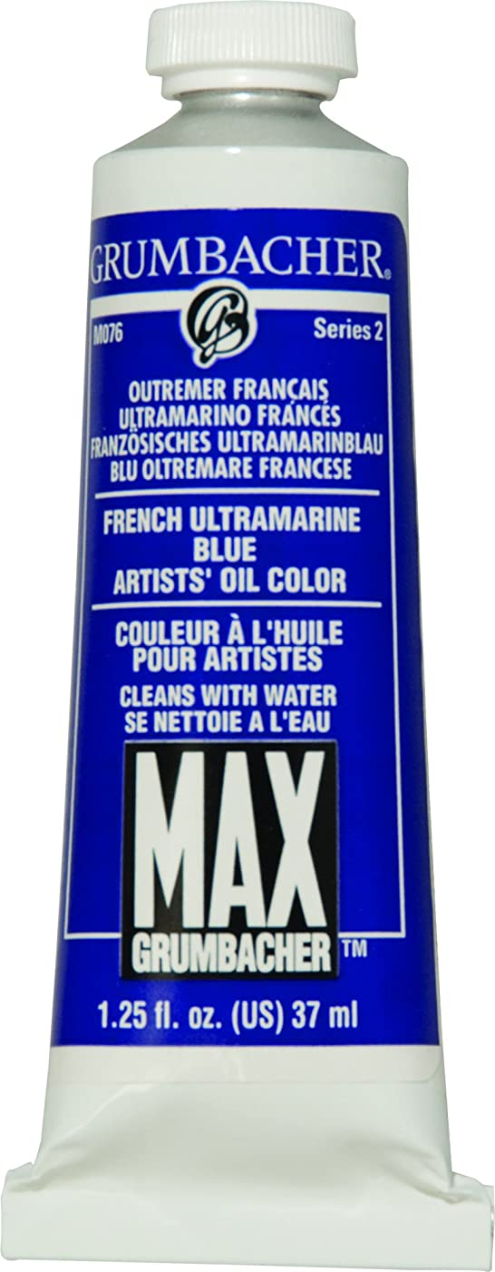 Grumbacher Max Water Miscible Oil Paint, 37ml/1.25 oz, French Ultramarine Blue
