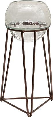 Creative Co-op Glass Tealight Metal Stand, Set of 3 Votive Holder, Bronze