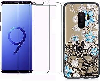 comprar comparacion YKTO Cristal Templado + Funda para Samsung Galaxy S9 Plus 2018 6.2 Pulgadas Fina 3D Moda Dibujos Antigolpes Caso [2 Piezas...