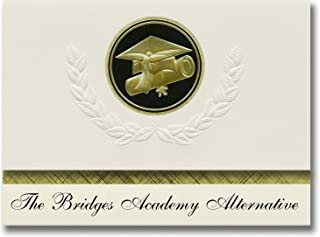 Signature Announcements The Bridges Academy Alternative (Colleyville, TX) Graduation Announcements, Presidential Elite Pac...